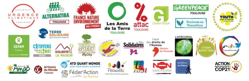 28 mars 2021 - Marche pour une vraie loi climat - Logos des associations organisatrices